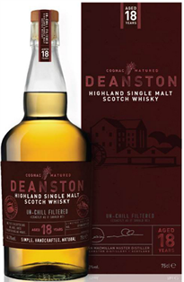 Deanston Scotch Single Malt 18 Year Bourbon Cask Finish...